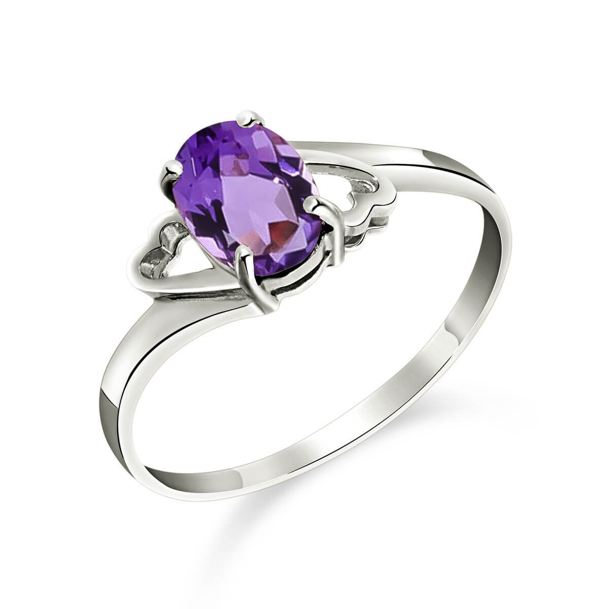 Amethyst Classic Desire Ring 0.75 ct in 9ct White Gold