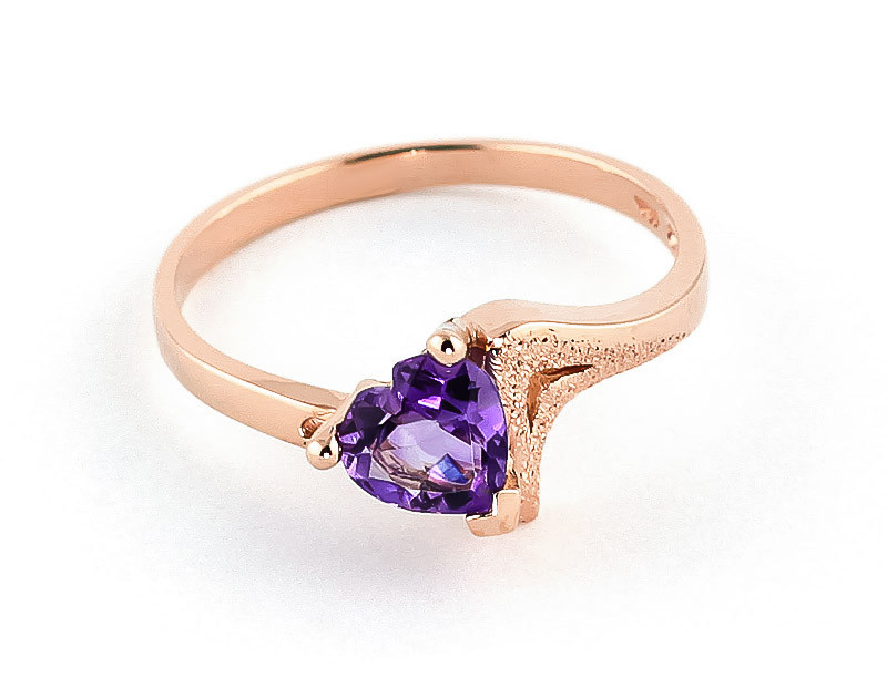 Amethyst Devotion Ring 0.75 ct in 9ct Rose Gold