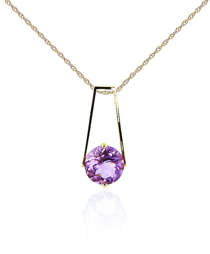 Amethyst Embrace Pendant Necklace 1.45 ct in 9ct Gold