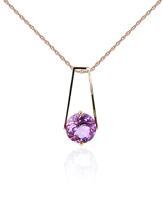 Amethyst Embrace Pendant Necklace 1.45 ct in 9ct Rose Gold