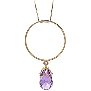Amethyst Infinity Pendant Necklace 3 ct in 9ct Gold