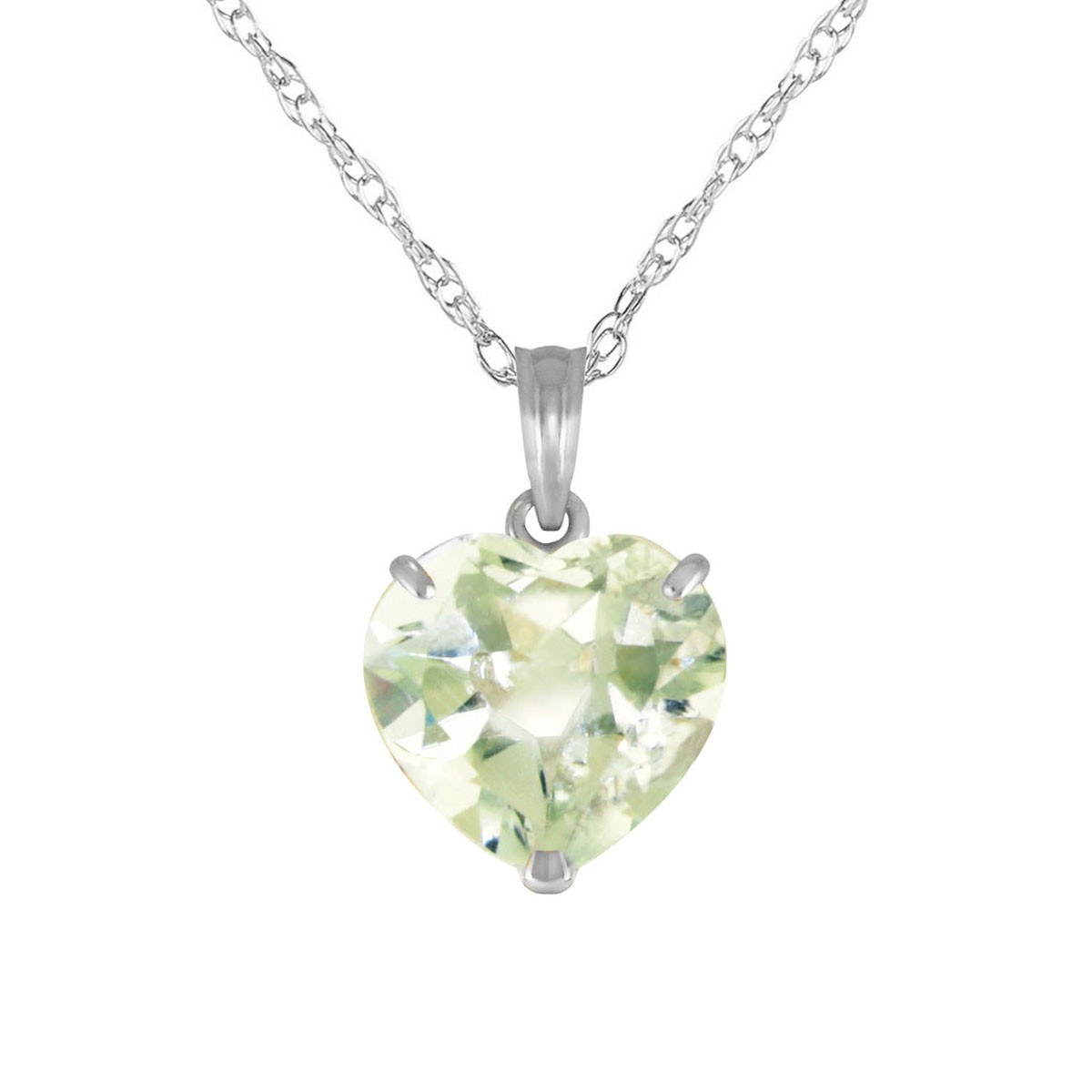 Green amethyst large heart pendant necklace 31 ct in 9ct white gold green amethyst large heart pendant necklace 31 ct in 9ct white gold mozeypictures Gallery