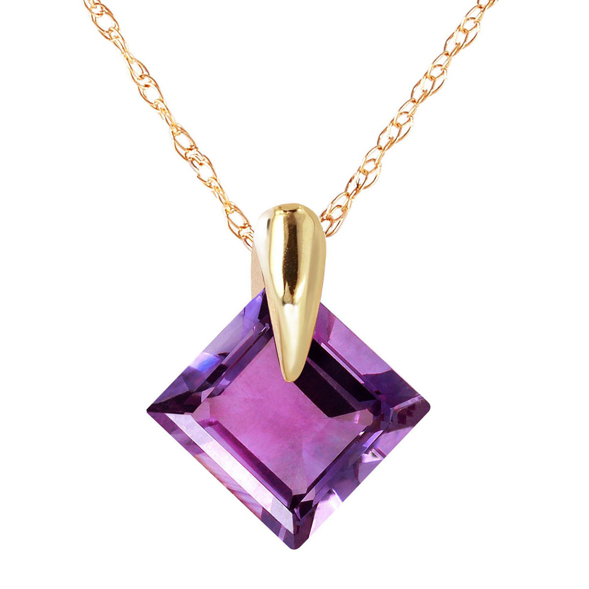 Amethyst princess pendant necklace 116 ct in 9ct gold 1408y qp amethyst princess pendant necklace 116 ct in 9ct gold aloadofball Choice Image