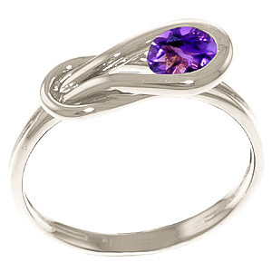 Amethyst San Francisco Ring 0.65 ct in 9ct White Gold