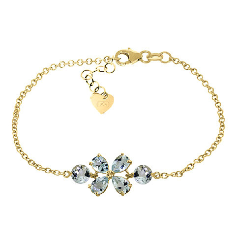 Aquamarine Adjustable Bracelet 3.15 ctw in 9ct Gold