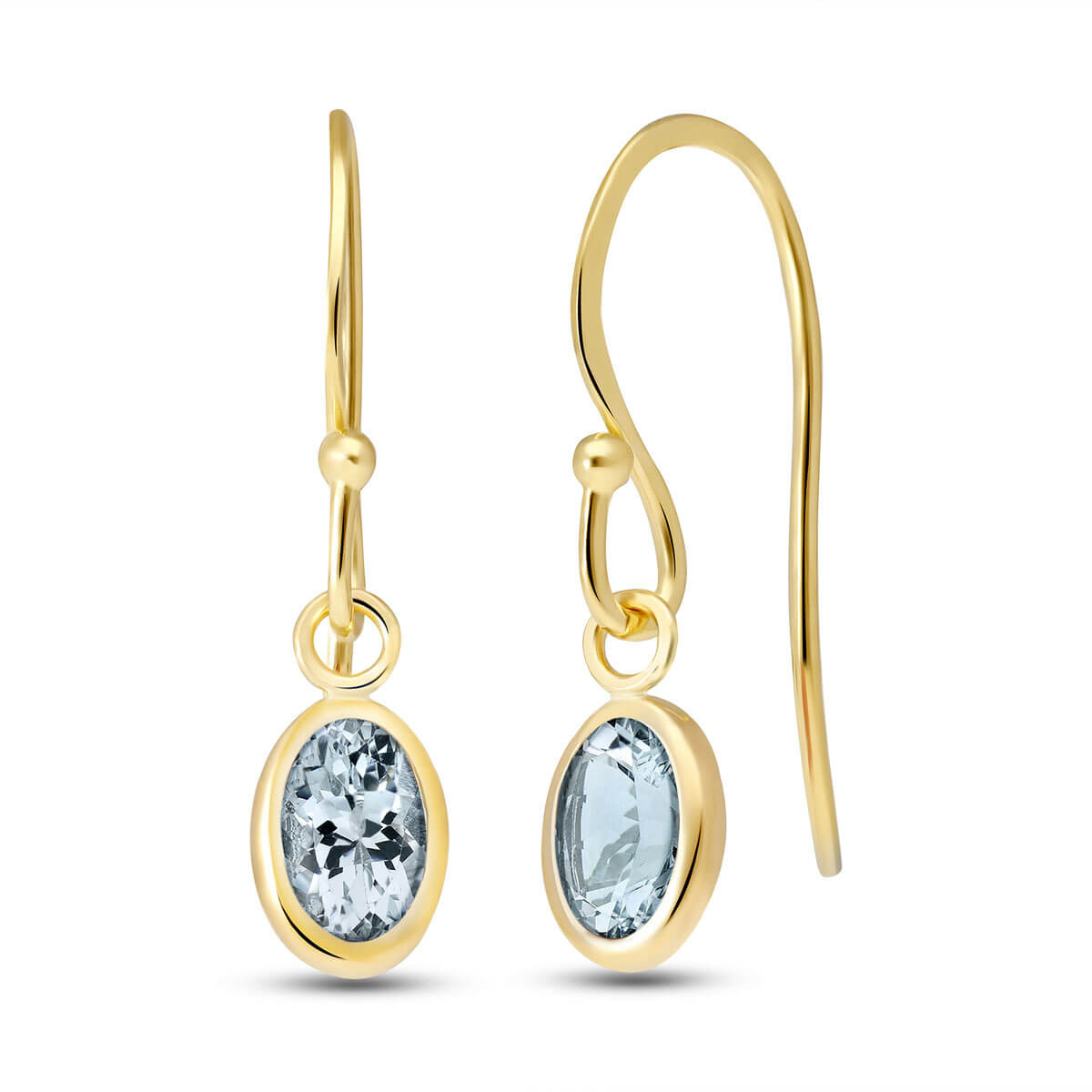 Aquamarine Allure Drop Earrings 1 ctw in 9ct Gold