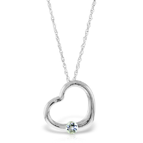 Aquamarine heart pendant necklace 025 ct in 9ct white gold 5386w aquamarine heart pendant necklace 025 ct in 9ct white gold aloadofball Image collections