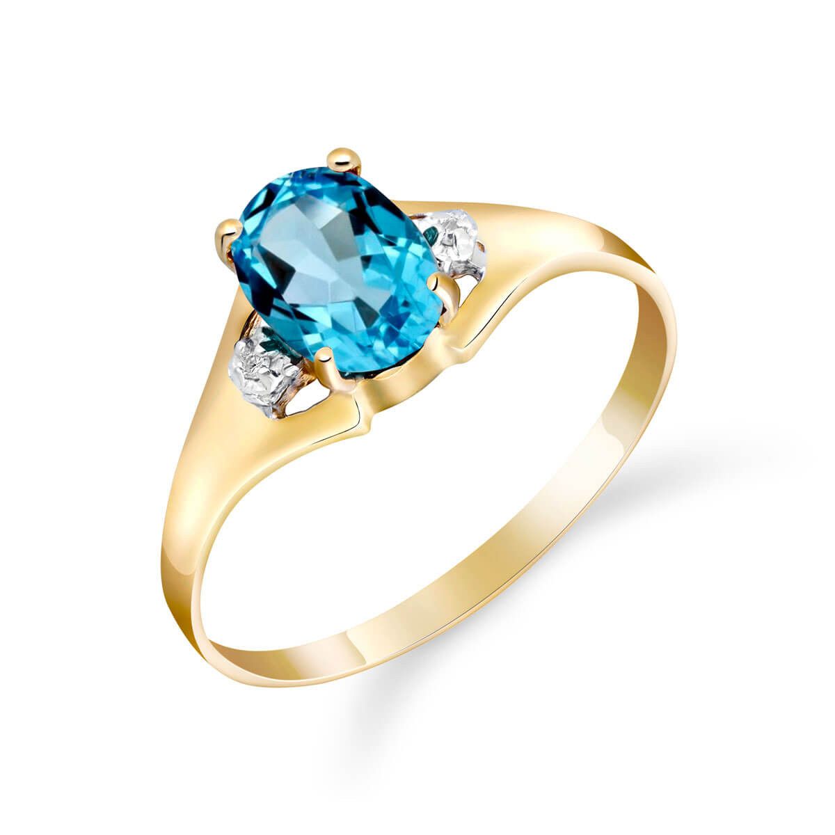 Blue Topaz & Diamond Desire Ring in 9ct Gold