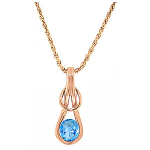 Blue Topaz San Francisco Pendant Necklace 0.65 ct in 9ct Rose Gold