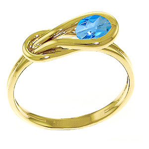 Blue Topaz San Francisco Ring 0.65 ct in 9ct Gold