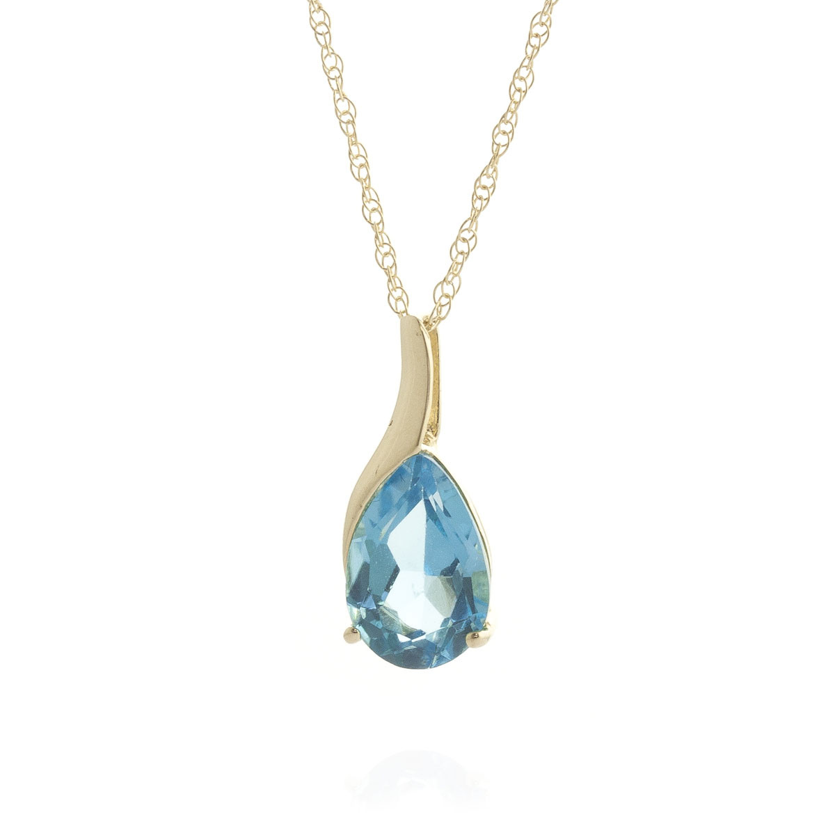 Blue Topaz Tuscany Pendant Necklace 4 7 Ct In 9ct Gold 1535y Qp Jewellers