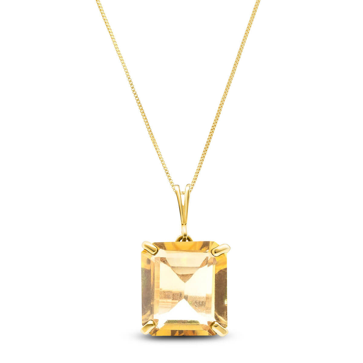 Citrine Auroral Pendant Necklace 6.5 ct in 9ct Gold