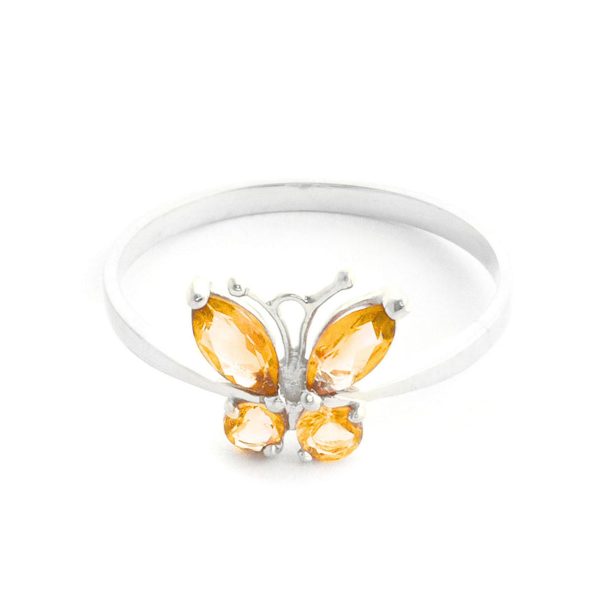Citrine Butterfly Ring 0.6 ctw in Sterling Silver