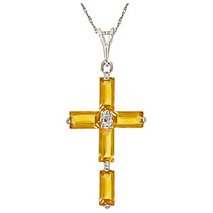 Citrine cross pendant necklace 115 ctw in 9ct white gold 4030w citrine cross pendant necklace 115 ctw in 9ct white gold aloadofball Gallery
