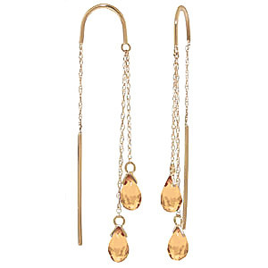 Citrine Scintilla Earrings 2.5 ctw in 9ct Gold