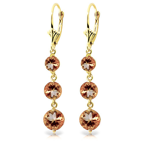 Citrine Trinity Drop Earrings 7.2 ctw in 9ct Gold