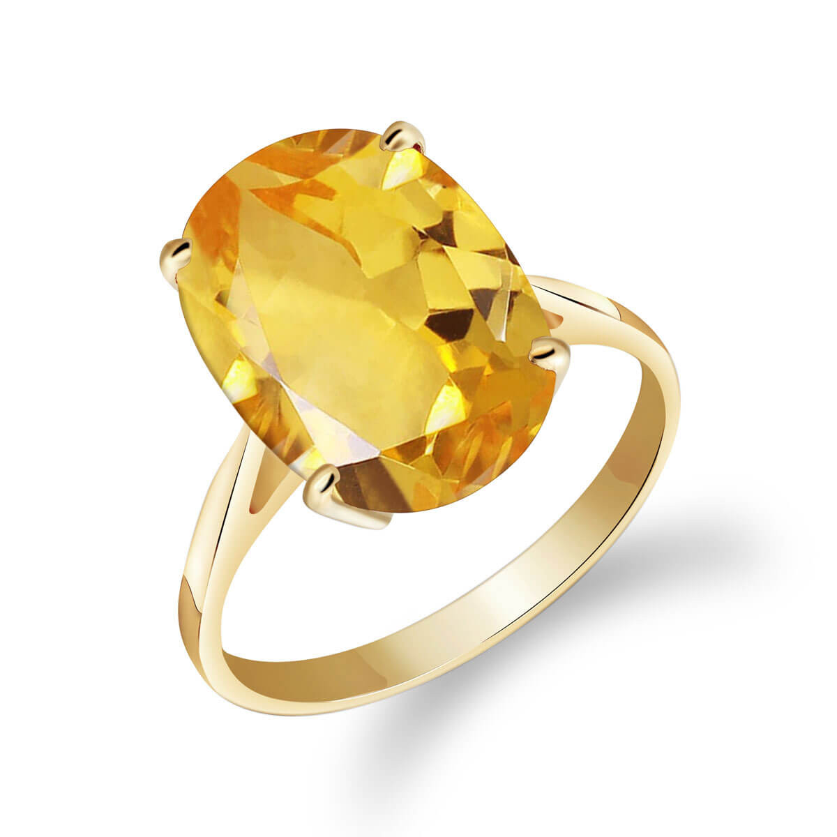 Citrine Valiant Ring 6 ct in 9ct Gold
