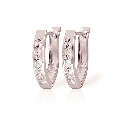 Cubic Zirconia Huggie Earrings 1.58 ctw in 9ct White Gold