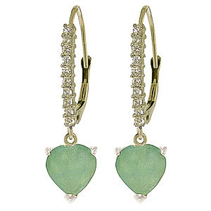 Diamond & Emerald Laced Drop Earrings in 9ct White Gold