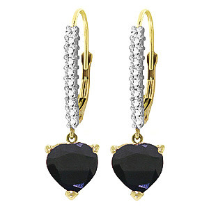 Diamond & Sapphire Laced Drop Earrings in 9ct Gold