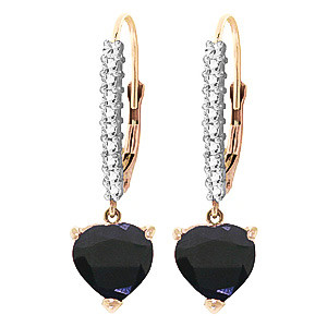 Diamond & Sapphire Laced Drop Earrings in 9ct Rose Gold
