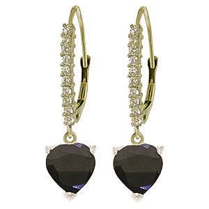 Diamond & Sapphire Laced Drop Earrings in 9ct White Gold