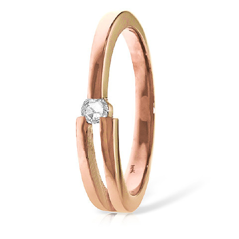 Diamond Channel Set Ring 0.1 ct in 9ct Rose Gold