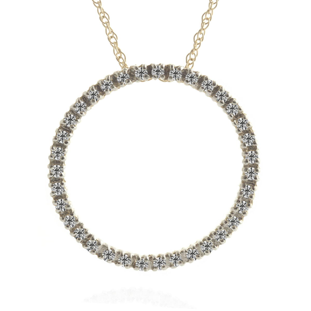 Diamond Circle of Life Pendant Necklace 0.52 ctw in 9ct Gold