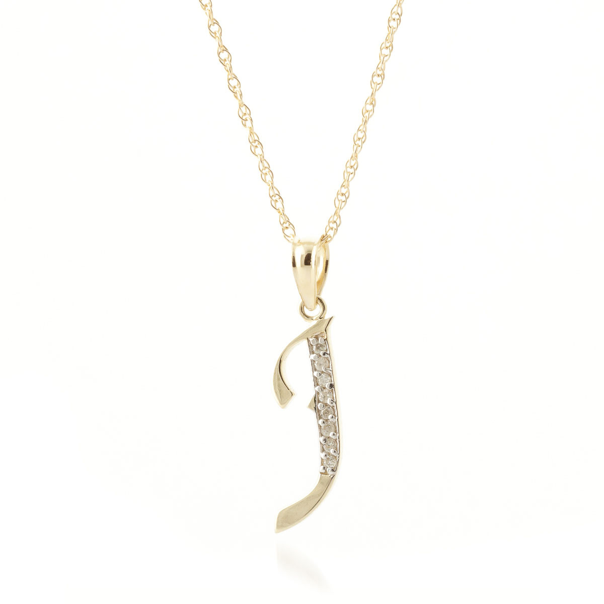 Diamond letter initial j pendant necklace in 9ct gold 5623y qp diamond letter initial j pendant necklace in 9ct gold aloadofball Gallery