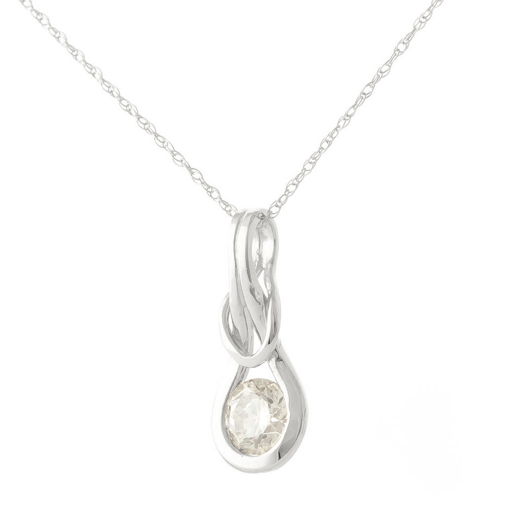 Diamond San Francisco Pendant Necklace 0.5 ct in 9ct White Gold