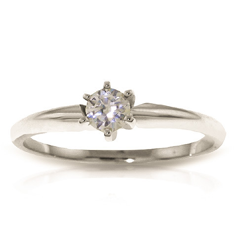 Diamond Solitaire Ring 0.15 ct in 9ct White Gold