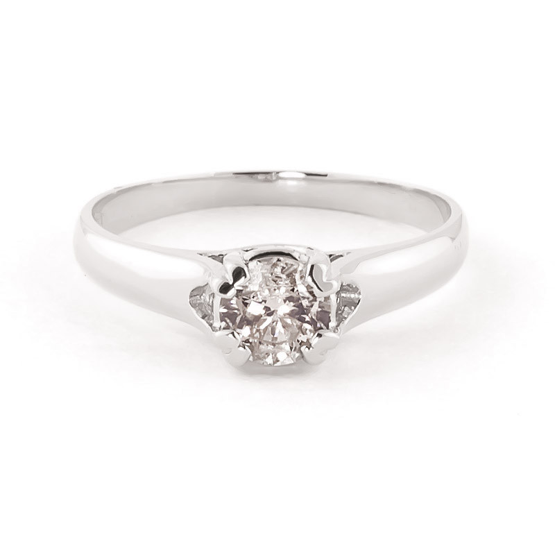 Diamond Solitaire Ring 0.75 ct in 9ct White Gold