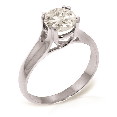 Diamond Solitaire Ring 1 ct in 9ct White Gold