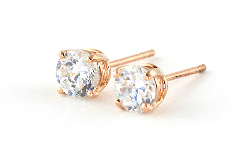 Diamond Stud Earrings 0.5 ctw in 9ct Rose Gold