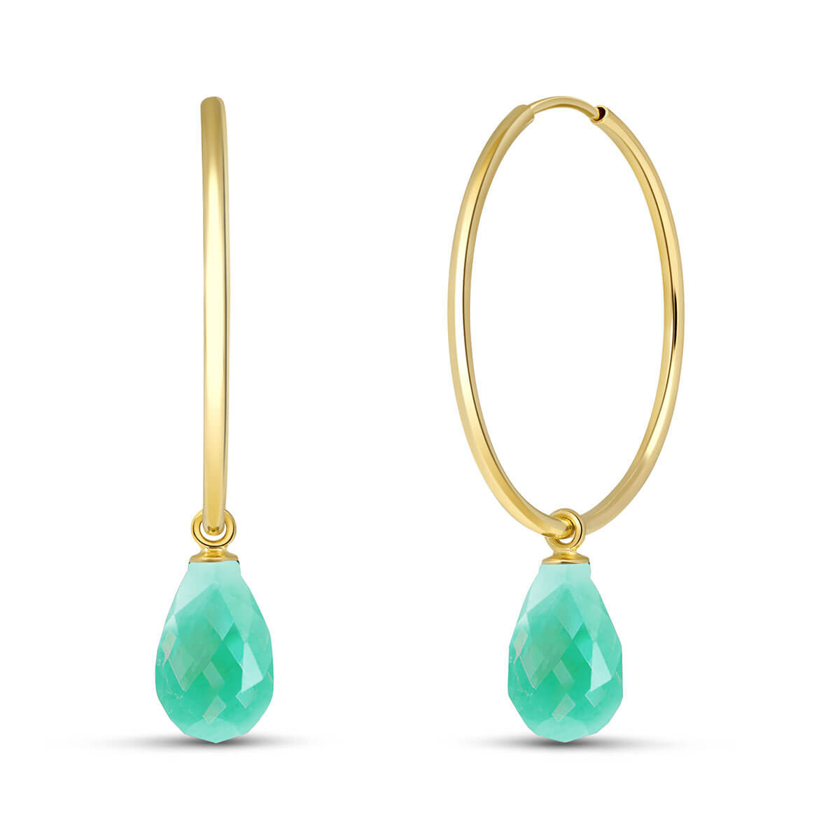 Emerald Halo Earrings 6.6 ctw in 9ct Gold