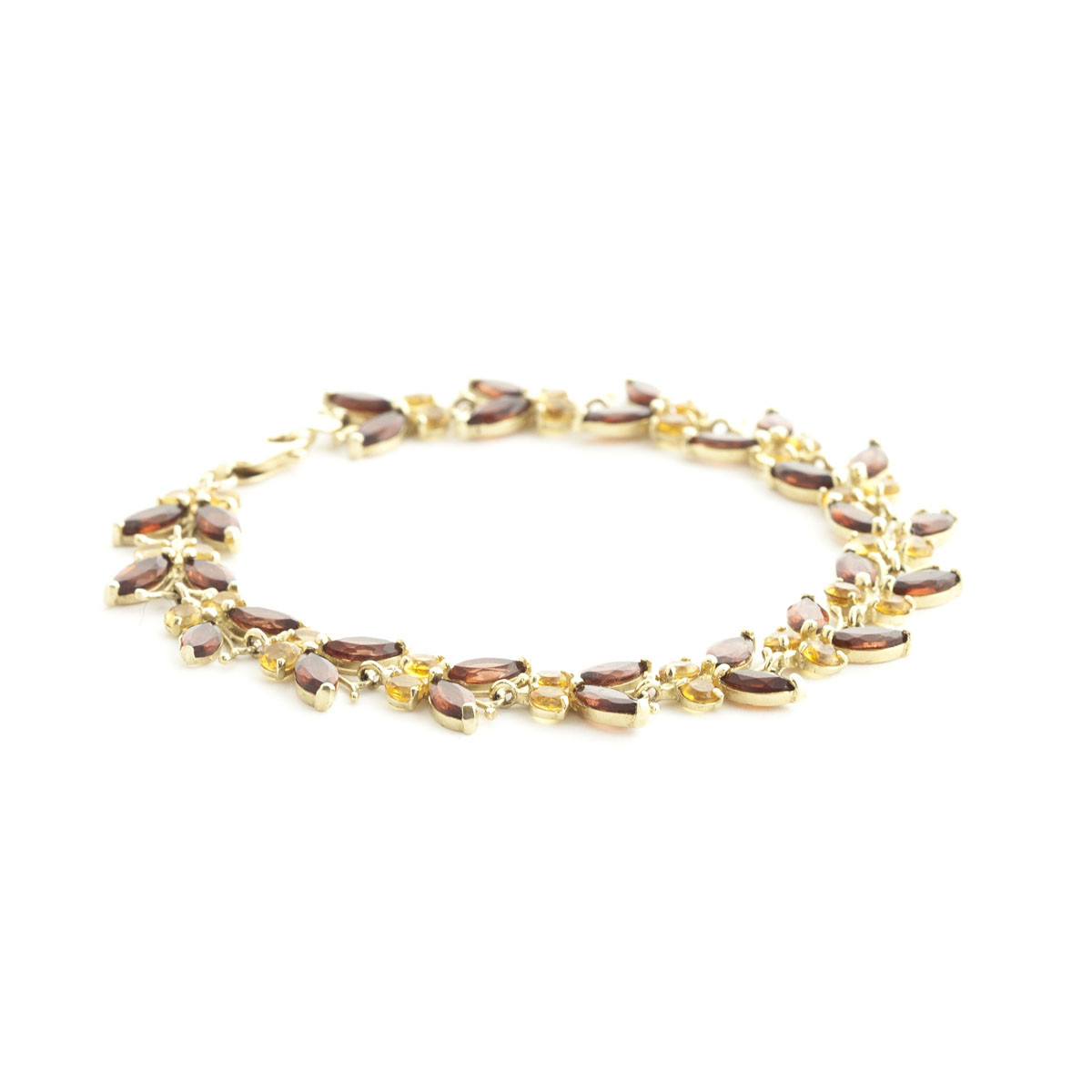 Garnet & Citrine Butterfly Bracelet in 9ct Gold