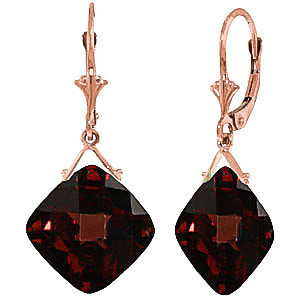 Garnet Deflection Drop Earrings 17.5 ctw in 9ct Rose Gold