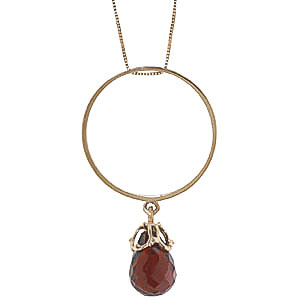 Garnet Infinity Pendant Necklace 3 ct in 9ct Gold