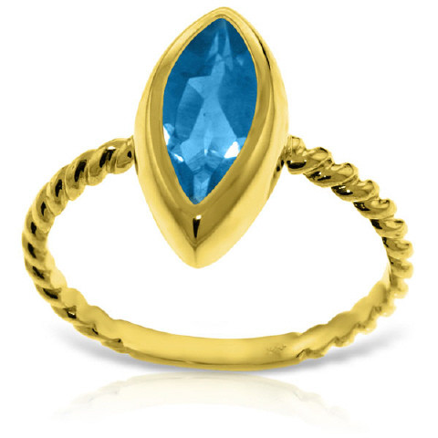 Marquise Cut Blue Topaz Ring 2.5 ct in 9ct Gold