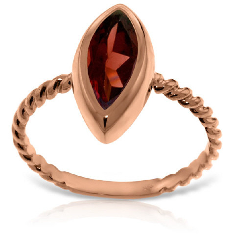 Marquise Cut Garnet Ring 2 ct in 9ct Rose Gold