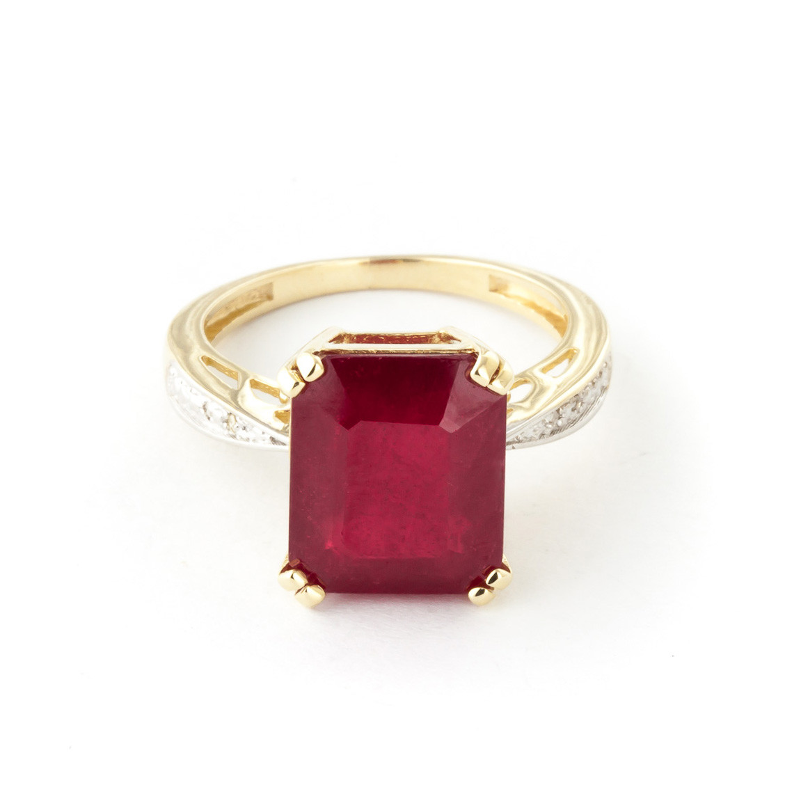 octagon cut ruby ring ctw in 9ct gold 5119y qp. Black Bedroom Furniture Sets. Home Design Ideas