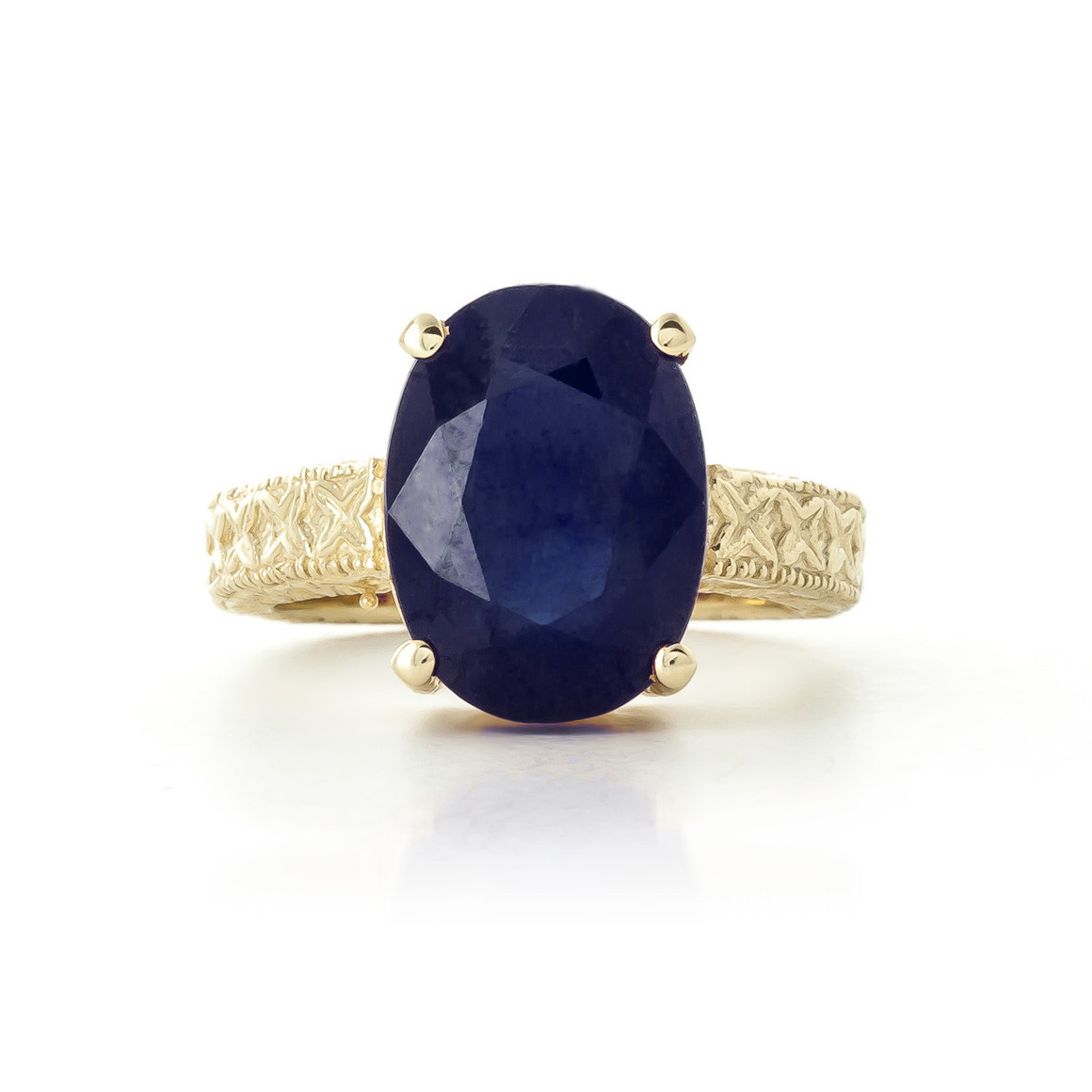 Oval Cut Sapphire Ring 8.5 ct in 9ct Gold