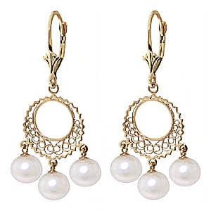 Pearl Drop Earrings 12 ctw in 9ct Gold