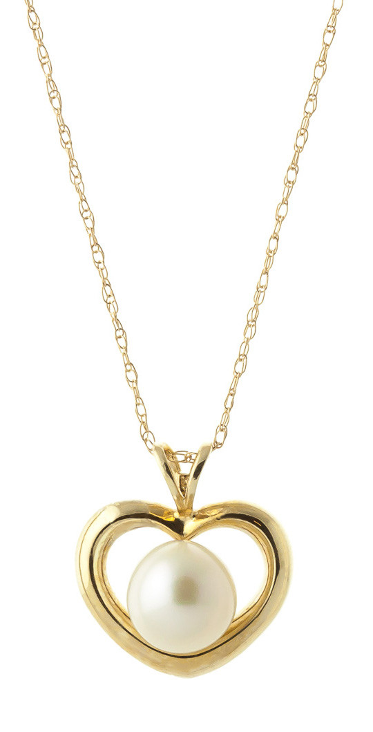 Pearl heart pendant necklace 2 ct in 9ct gold 5379y qp jewellers pearl heart pendant necklace 2 ct in 9ct gold aloadofball Images