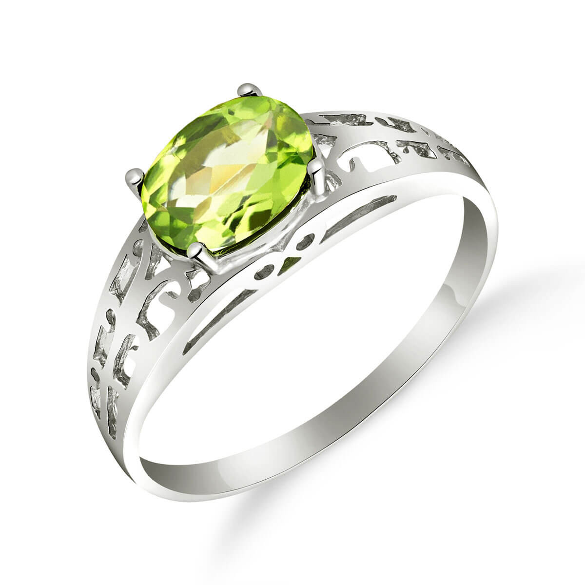 Peridot Catalan Filigree Ring 1.15 ct in Sterling Silver