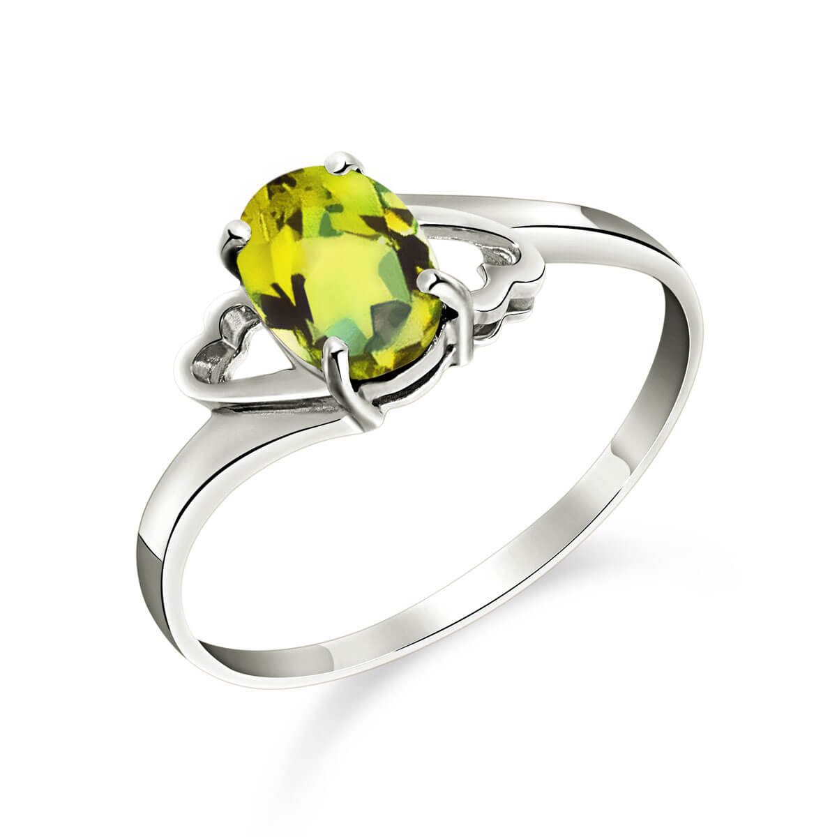 Peridot Classic Desire Ring 0.75 ct in Sterling Silver