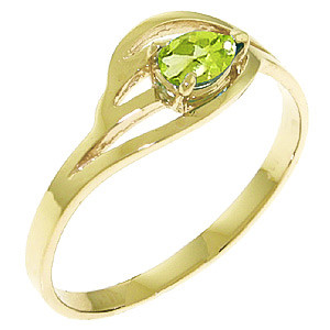 Peridot Pear Strand Ring 0.3 ct in 9ct Gold