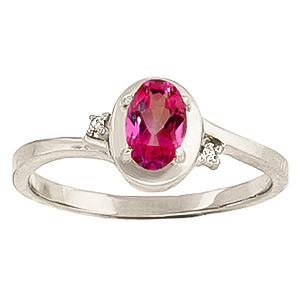 Pink Topaz & Diamond Meridian Ring in Sterling Silver