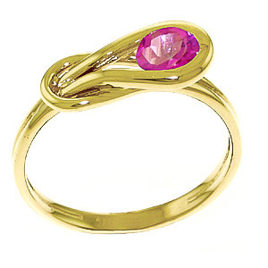 Pink Topaz San Francisco Ring 0.65 ct in 9ct Gold