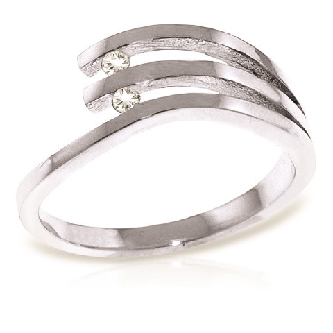Round Cut Diamond Ring 0.06 ctw in Sterling Silver